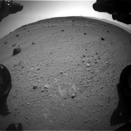 Nasa's Mars rover Curiosity acquired this image using its Front Hazard Avoidance Camera (Front Hazcam) on Sol 662, at drive 1592, site number 35