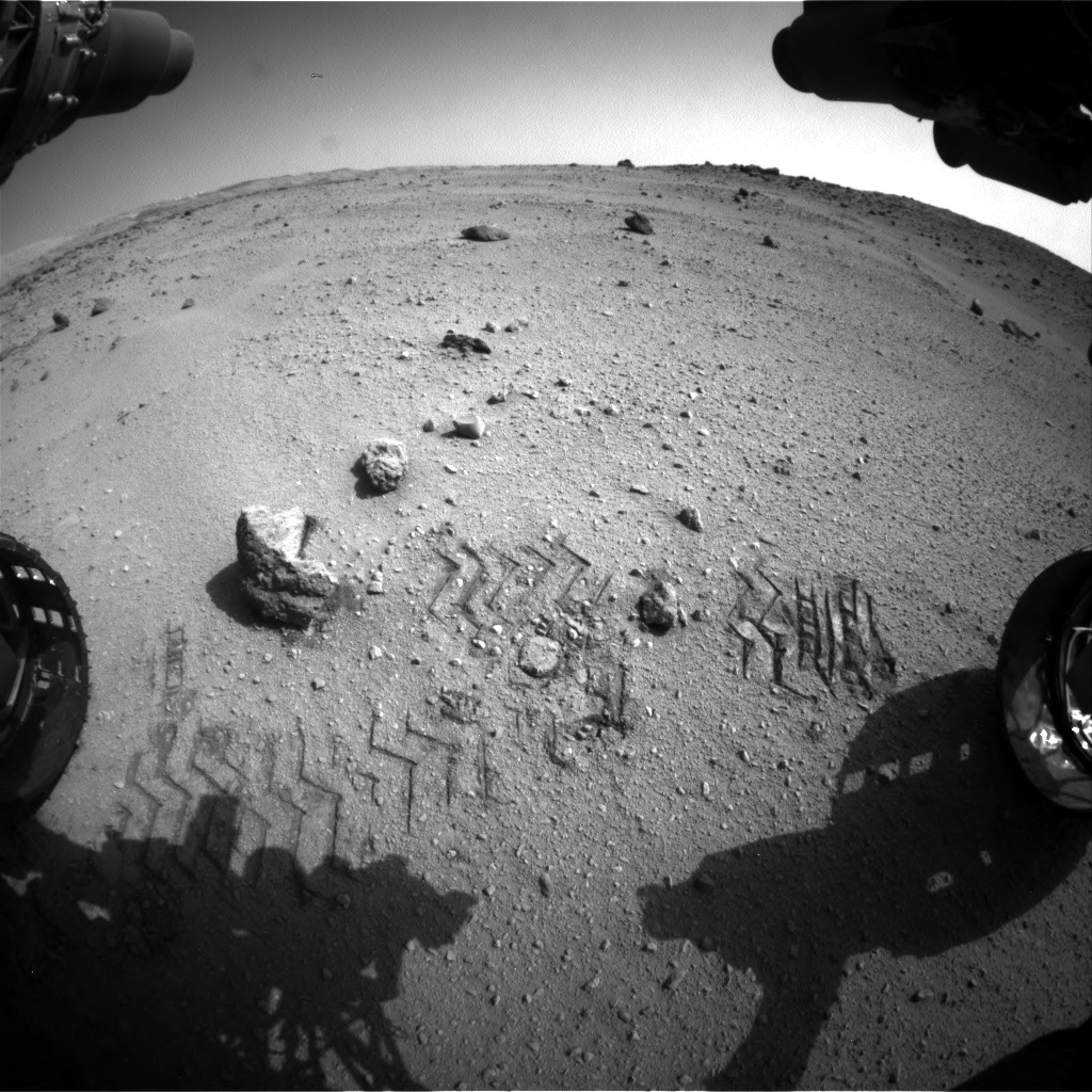 Nasa's Mars rover Curiosity acquired this image using its Front Hazard Avoidance Camera (Front Hazcam) on Sol 662, at drive 0, site number 36