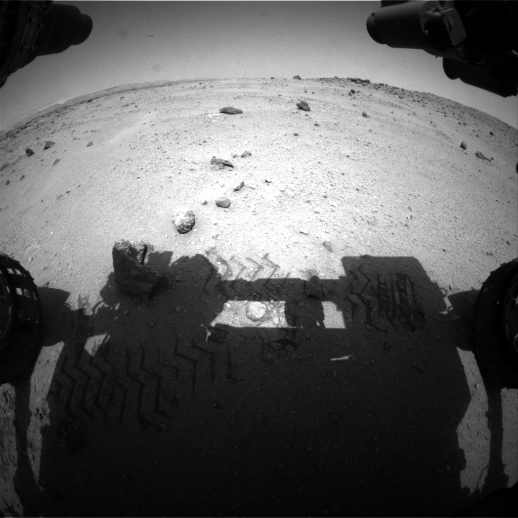 Nasa's Mars rover Curiosity acquired this image using its Front Hazard Avoidance Camera (Front Hazcam) on Sol 663, at drive 0, site number 36