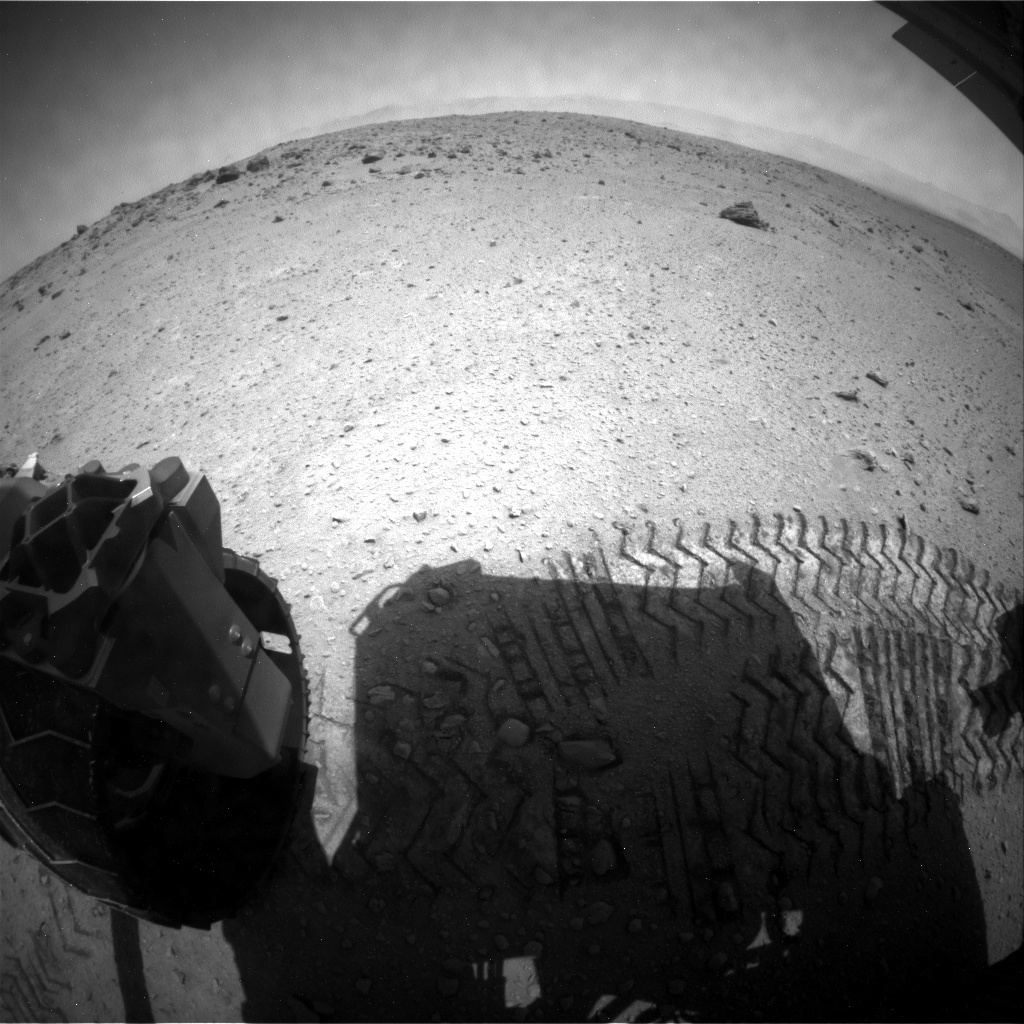 NASA's Mars rover Curiosity acquired this image using its Rear Hazard Avoidance Cameras (Rear Hazcams) on Sol 664