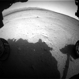 Nasa's Mars rover Curiosity acquired this image using its Front Hazard Avoidance Camera (Front Hazcam) on Sol 665, at drive 818, site number 36