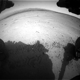 Nasa's Mars rover Curiosity acquired this image using its Front Hazard Avoidance Camera (Front Hazcam) on Sol 665, at drive 806, site number 36
