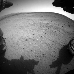 Nasa's Mars rover Curiosity acquired this image using its Front Hazard Avoidance Camera (Front Hazcam) on Sol 665, at drive 896, site number 36