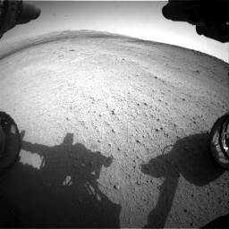 Nasa's Mars rover Curiosity acquired this image using its Front Hazard Avoidance Camera (Front Hazcam) on Sol 665, at drive 914, site number 36