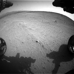 Nasa's Mars rover Curiosity acquired this image using its Front Hazard Avoidance Camera (Front Hazcam) on Sol 665, at drive 932, site number 36