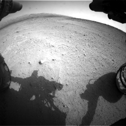 Nasa's Mars rover Curiosity acquired this image using its Front Hazard Avoidance Camera (Front Hazcam) on Sol 665, at drive 950, site number 36
