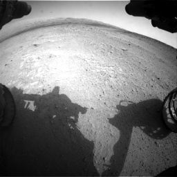 Nasa's Mars rover Curiosity acquired this image using its Front Hazard Avoidance Camera (Front Hazcam) on Sol 665, at drive 968, site number 36