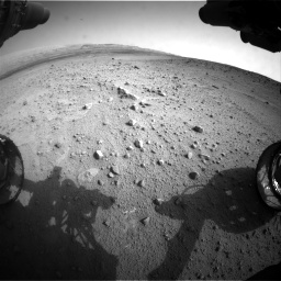 Nasa's Mars rover Curiosity acquired this image using its Front Hazard Avoidance Camera (Front Hazcam) on Sol 665, at drive 1046, site number 36