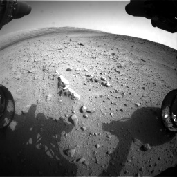 Nasa's Mars rover Curiosity acquired this image using its Front Hazard Avoidance Camera (Front Hazcam) on Sol 665, at drive 1058, site number 36