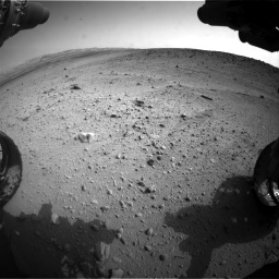 Nasa's Mars rover Curiosity acquired this image using its Front Hazard Avoidance Camera (Front Hazcam) on Sol 665, at drive 1070, site number 36