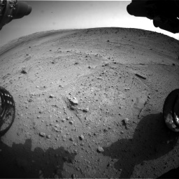 Nasa's Mars rover Curiosity acquired this image using its Front Hazard Avoidance Camera (Front Hazcam) on Sol 665, at drive 1082, site number 36