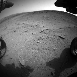 Nasa's Mars rover Curiosity acquired this image using its Front Hazard Avoidance Camera (Front Hazcam) on Sol 665, at drive 1088, site number 36