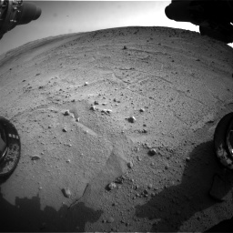 Nasa's Mars rover Curiosity acquired this image using its Front Hazard Avoidance Camera (Front Hazcam) on Sol 665, at drive 1100, site number 36