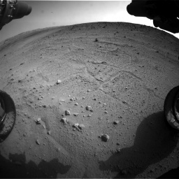 Nasa's Mars rover Curiosity acquired this image using its Front Hazard Avoidance Camera (Front Hazcam) on Sol 665, at drive 1106, site number 36
