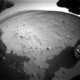 Nasa's Mars rover Curiosity acquired this image using its Front Hazard Avoidance Camera (Front Hazcam) on Sol 665, at drive 1112, site number 36
