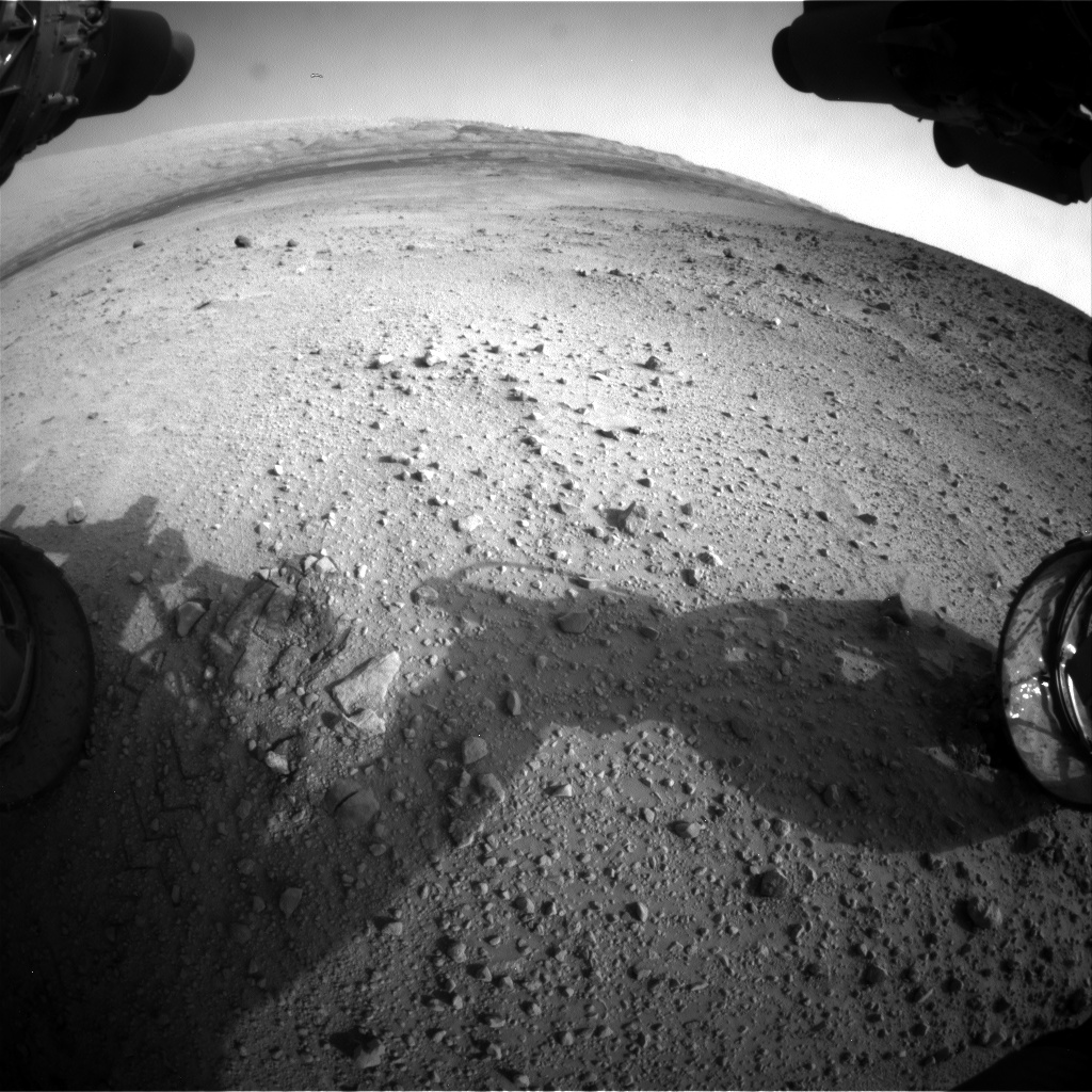 Nasa's Mars rover Curiosity acquired this image using its Front Hazard Avoidance Camera (Front Hazcam) on Sol 665, at drive 1146, site number 36