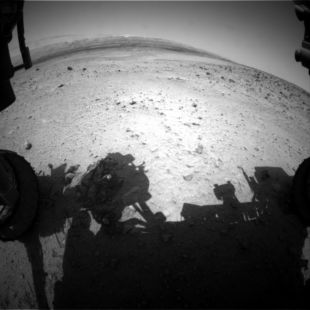 Nasa's Mars rover Curiosity acquired this image using its Front Hazard Avoidance Camera (Front Hazcam) on Sol 667, at drive 1146, site number 36