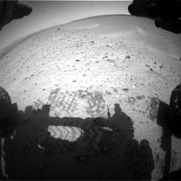 Nasa's Mars rover Curiosity acquired this image using its Front Hazard Avoidance Camera (Front Hazcam) on Sol 668, at drive 1512, site number 36