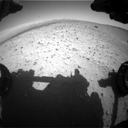 Nasa's Mars rover Curiosity acquired this image using its Front Hazard Avoidance Camera (Front Hazcam) on Sol 668, at drive 1590, site number 36