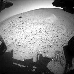 Nasa's Mars rover Curiosity acquired this image using its Front Hazard Avoidance Camera (Front Hazcam) on Sol 668, at drive 1650, site number 36