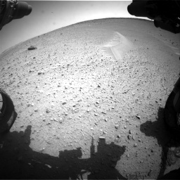 Nasa's Mars rover Curiosity acquired this image using its Front Hazard Avoidance Camera (Front Hazcam) on Sol 668, at drive 1656, site number 36