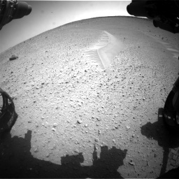 Nasa's Mars rover Curiosity acquired this image using its Front Hazard Avoidance Camera (Front Hazcam) on Sol 668, at drive 1662, site number 36