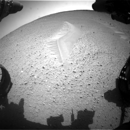 Nasa's Mars rover Curiosity acquired this image using its Front Hazard Avoidance Camera (Front Hazcam) on Sol 668, at drive 1668, site number 36