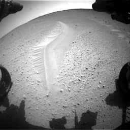 Nasa's Mars rover Curiosity acquired this image using its Front Hazard Avoidance Camera (Front Hazcam) on Sol 668, at drive 1674, site number 36