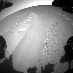 Nasa's Mars rover Curiosity acquired this image using its Front Hazard Avoidance Camera (Front Hazcam) on Sol 668, at drive 1680, site number 36