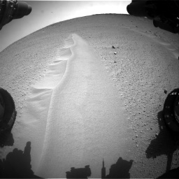Nasa's Mars rover Curiosity acquired this image using its Front Hazard Avoidance Camera (Front Hazcam) on Sol 668, at drive 1686, site number 36