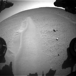 Nasa's Mars rover Curiosity acquired this image using its Front Hazard Avoidance Camera (Front Hazcam) on Sol 668, at drive 1692, site number 36