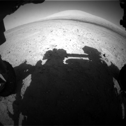 Nasa's Mars rover Curiosity acquired this image using its Front Hazard Avoidance Camera (Front Hazcam) on Sol 670, at drive 724, site number 37