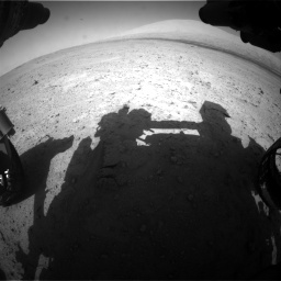 Nasa's Mars rover Curiosity acquired this image using its Front Hazard Avoidance Camera (Front Hazcam) on Sol 670, at drive 694, site number 37
