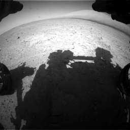 Nasa's Mars rover Curiosity acquired this image using its Front Hazard Avoidance Camera (Front Hazcam) on Sol 670, at drive 700, site number 37