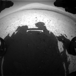 Nasa's Mars rover Curiosity acquired this image using its Front Hazard Avoidance Camera (Front Hazcam) on Sol 670, at drive 754, site number 37