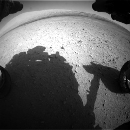 Nasa's Mars rover Curiosity acquired this image using its Front Hazard Avoidance Camera (Front Hazcam) on Sol 670, at drive 826, site number 37