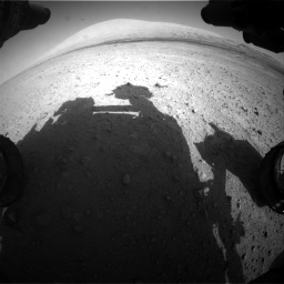 Nasa's Mars rover Curiosity acquired this image using its Front Hazard Avoidance Camera (Front Hazcam) on Sol 670, at drive 916, site number 37