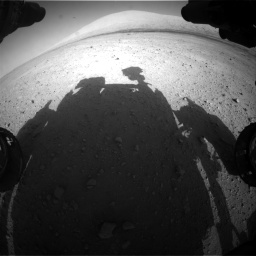 Nasa's Mars rover Curiosity acquired this image using its Front Hazard Avoidance Camera (Front Hazcam) on Sol 670, at drive 1024, site number 37