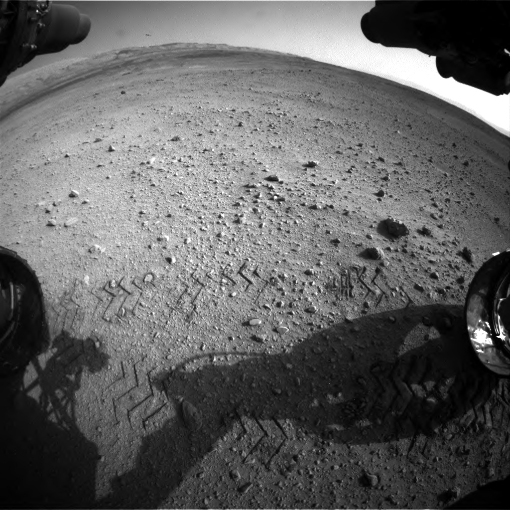 Nasa's Mars rover Curiosity acquired this image using its Front Hazard Avoidance Camera (Front Hazcam) on Sol 670, at drive 1070, site number 37