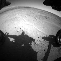 Nasa's Mars rover Curiosity acquired this image using its Front Hazard Avoidance Camera (Front Hazcam) on Sol 671, at drive 1514, site number 37