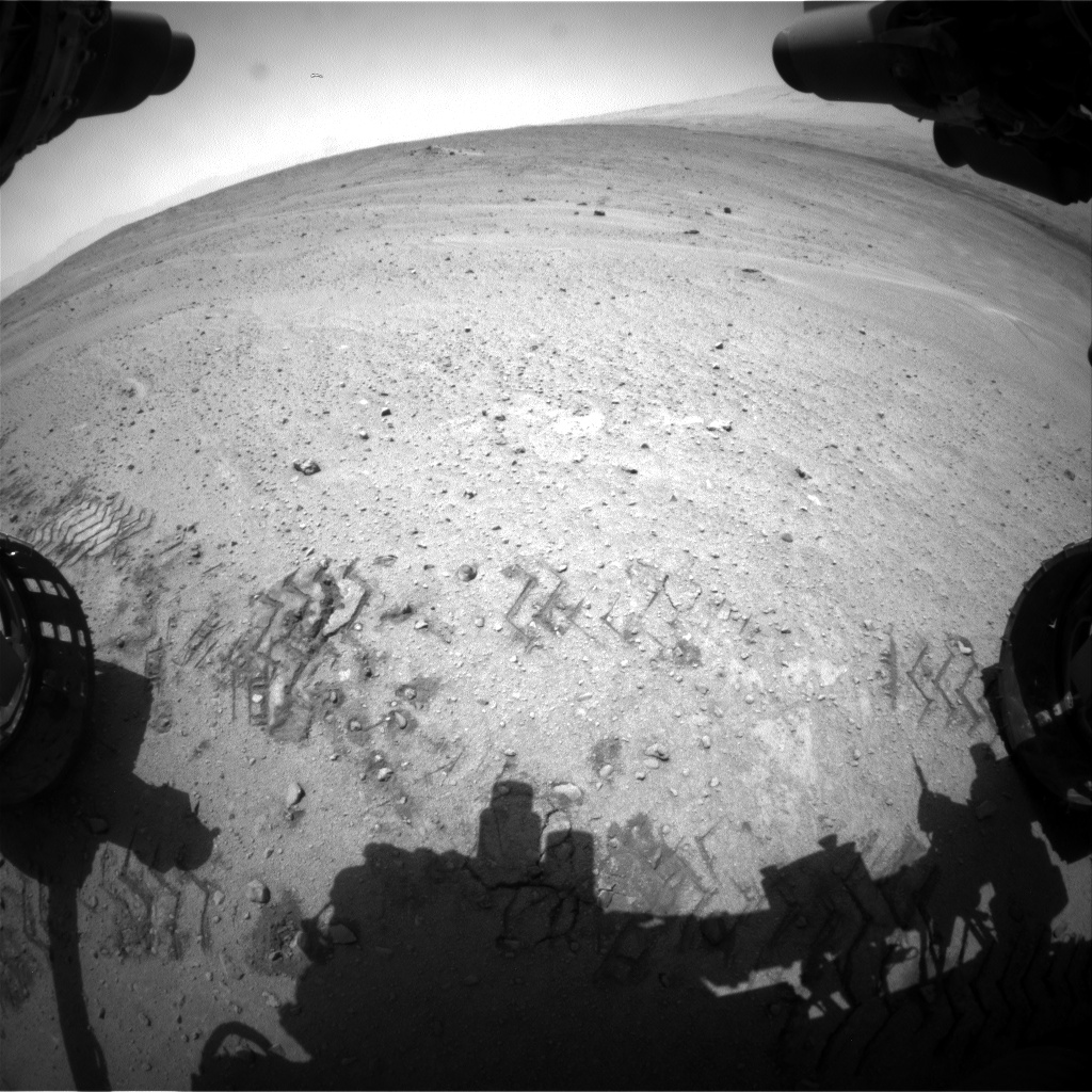 Nasa's Mars rover Curiosity acquired this image using its Front Hazard Avoidance Camera (Front Hazcam) on Sol 672, at drive 1542, site number 37