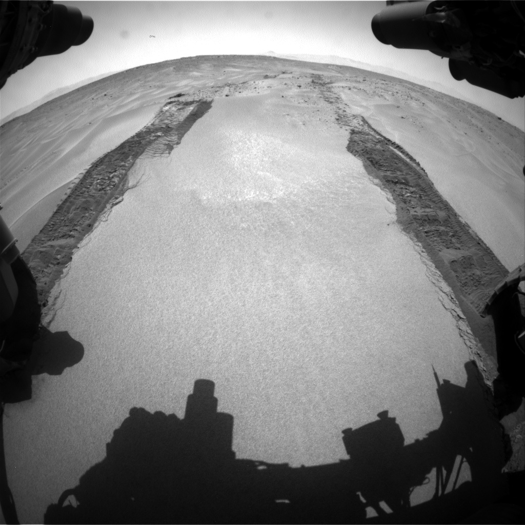 Nasa's Mars rover Curiosity acquired this image using its Front Hazard Avoidance Camera (Front Hazcam) on Sol 673, at drive 0, site number 38