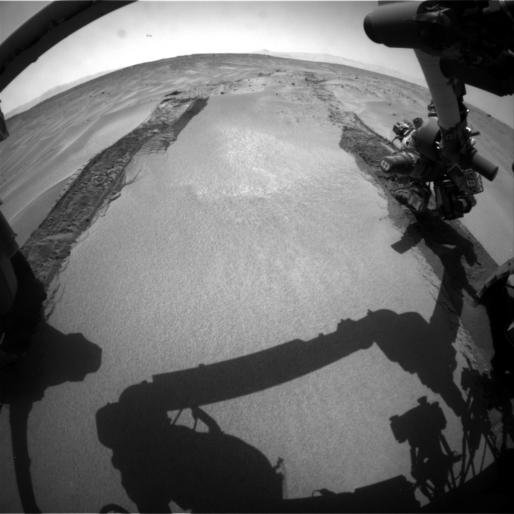 Nasa's Mars rover Curiosity acquired this image using its Front Hazard Avoidance Camera (Front Hazcam) on Sol 674, at drive 0, site number 38