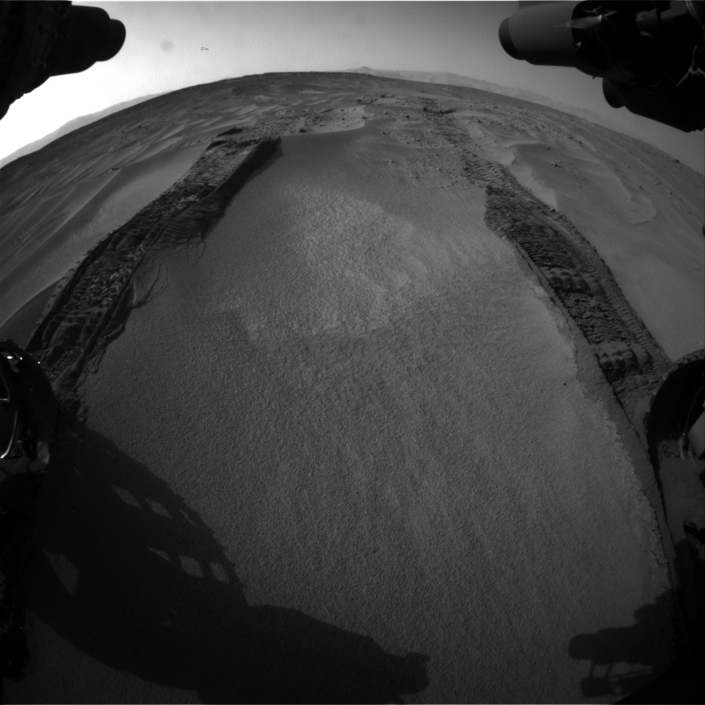 Nasa's Mars rover Curiosity acquired this image using its Front Hazard Avoidance Camera (Front Hazcam) on Sol 674, at drive 6, site number 38