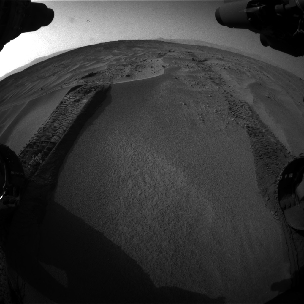 Nasa's Mars rover Curiosity acquired this image using its Front Hazard Avoidance Camera (Front Hazcam) on Sol 674, at drive 18, site number 38