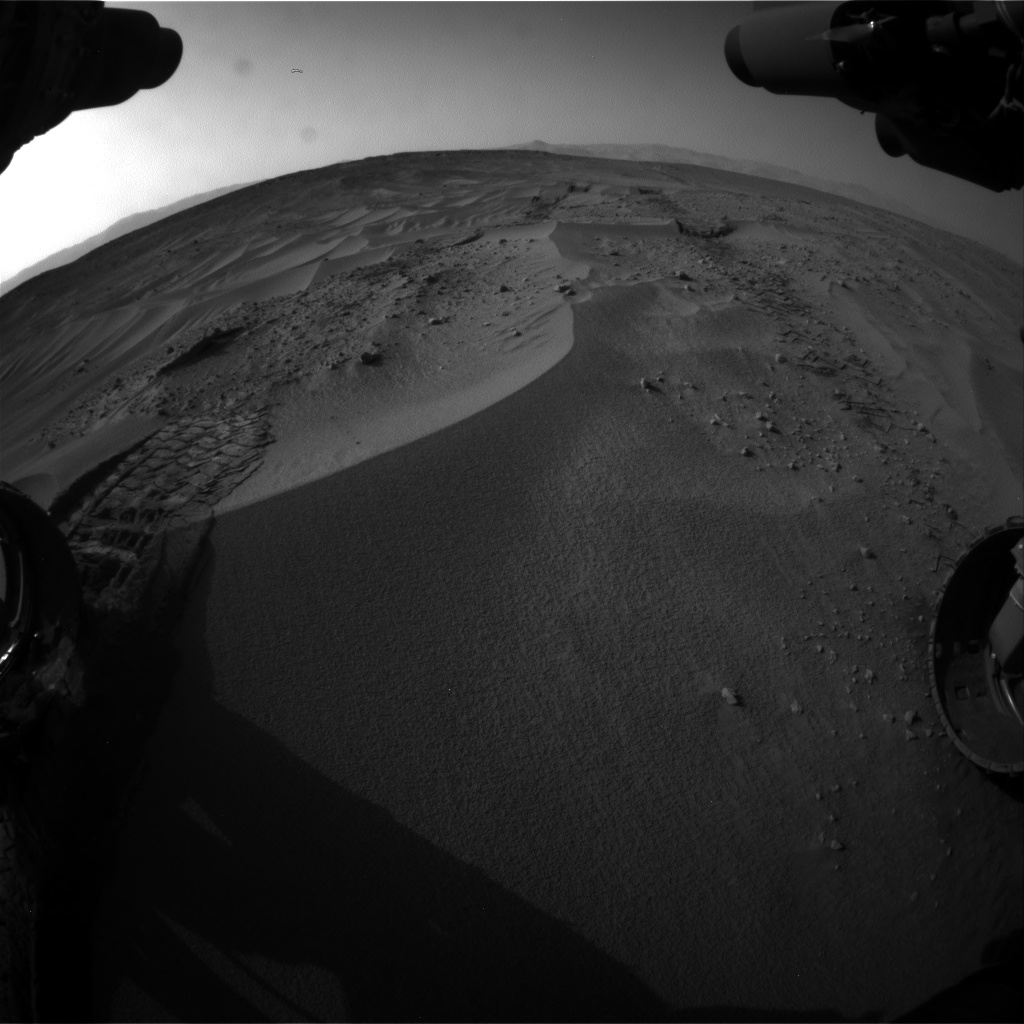 Nasa's Mars rover Curiosity acquired this image using its Front Hazard Avoidance Camera (Front Hazcam) on Sol 674, at drive 30, site number 38