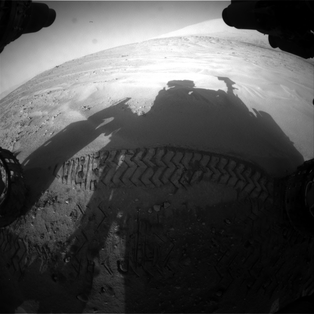Nasa's Mars rover Curiosity acquired this image using its Front Hazard Avoidance Camera (Front Hazcam) on Sol 674, at drive 58, site number 38