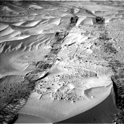 NASA's Mars rover Curiosity acquired this image using its Left Navigation Camera (Navcams) on Sol 674