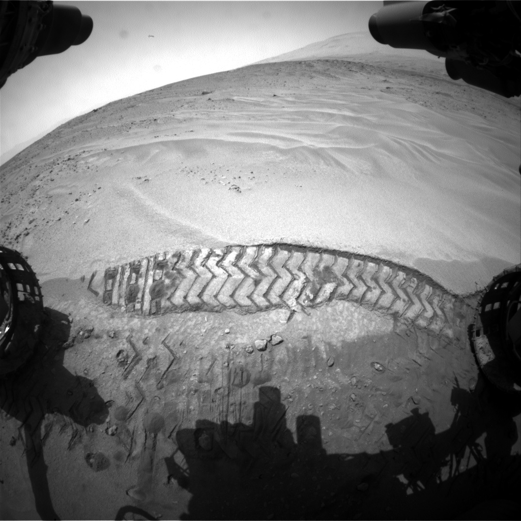 Nasa's Mars rover Curiosity acquired this image using its Front Hazard Avoidance Camera (Front Hazcam) on Sol 675, at drive 58, site number 38
