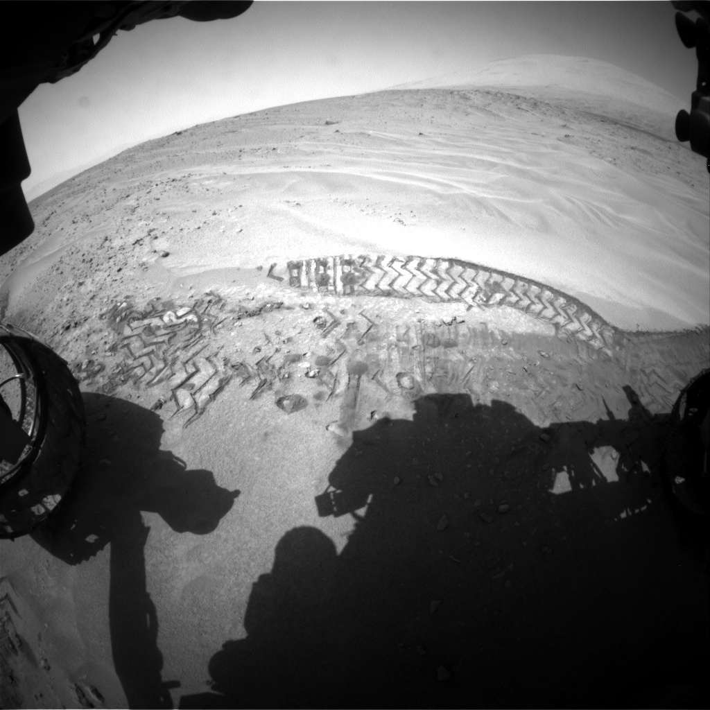 Nasa's Mars rover Curiosity acquired this image using its Front Hazard Avoidance Camera (Front Hazcam) on Sol 676, at drive 64, site number 38